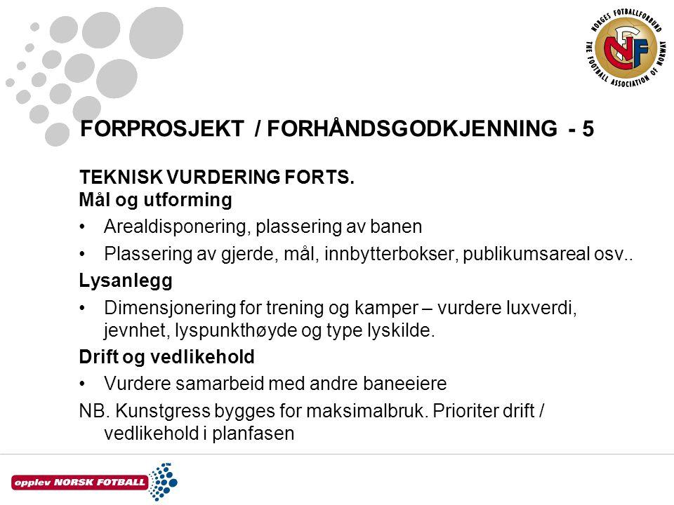 FORPROSJEKT / FORHÅNDSGODKJENNING - 5 TEKNISK VURDERING FORTS.