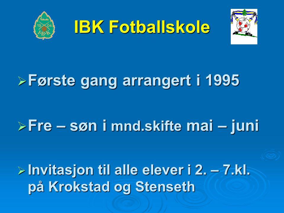  Første gang arrangert i 1995  Fre – søn i mnd.skifte mai – juni  Invitasjon til alle elever i 2.