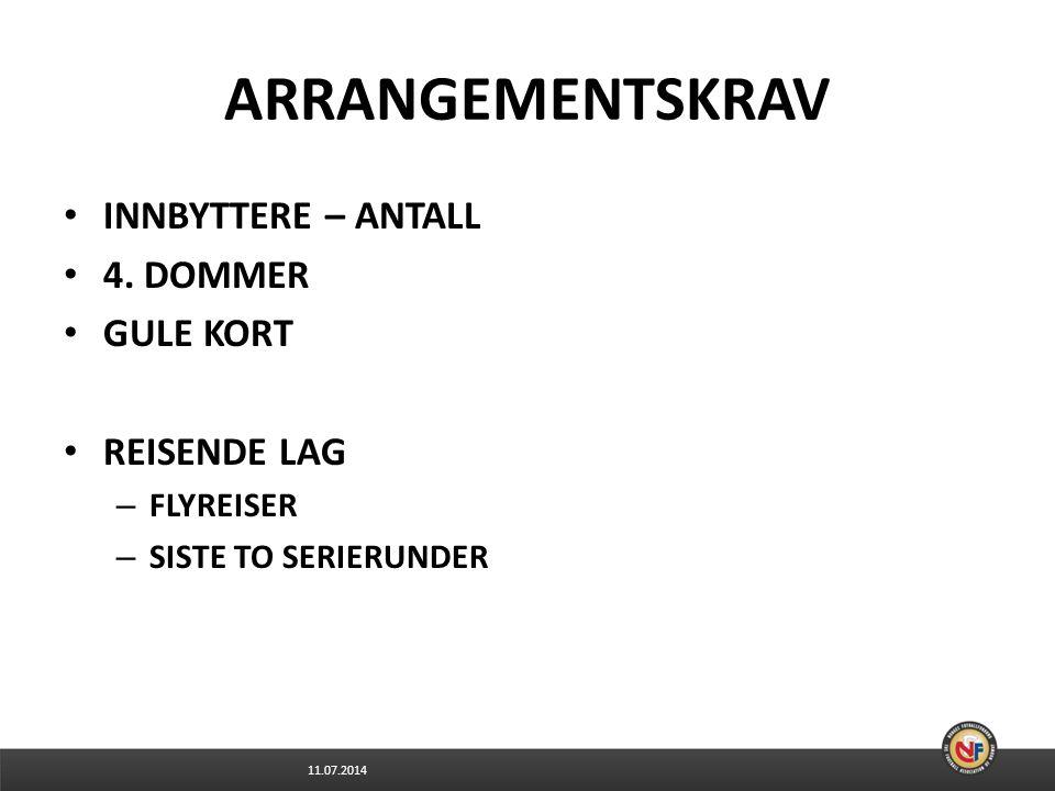 11.07.2014 ARRANGEMENTSKRAV INNBYTTERE – ANTALL 4.