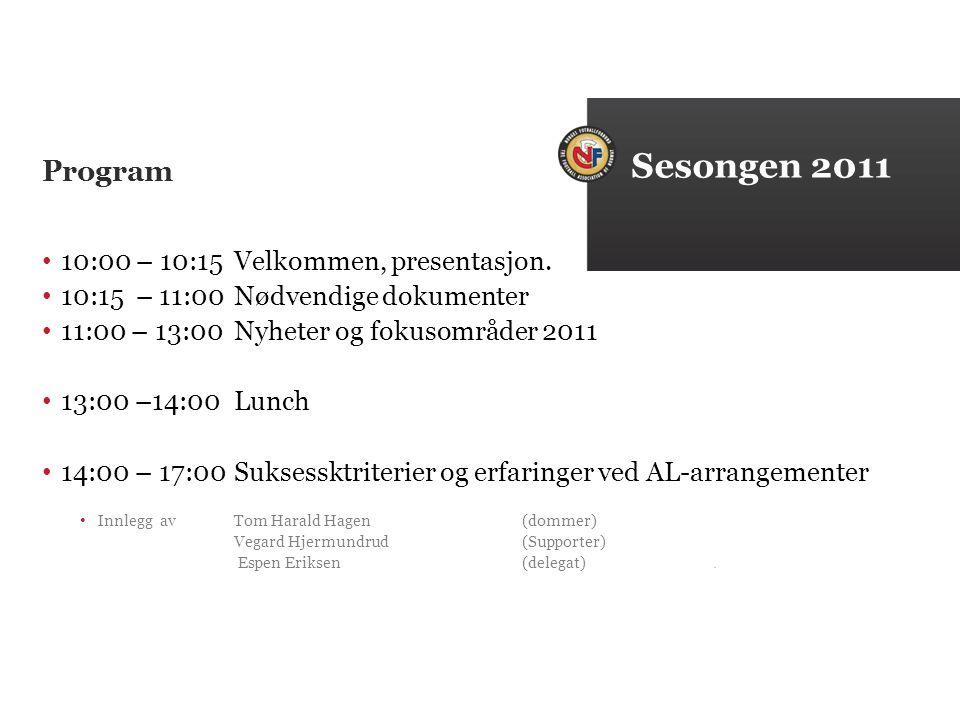 Program 10:00 – 10:15Velkommen, presentasjon.