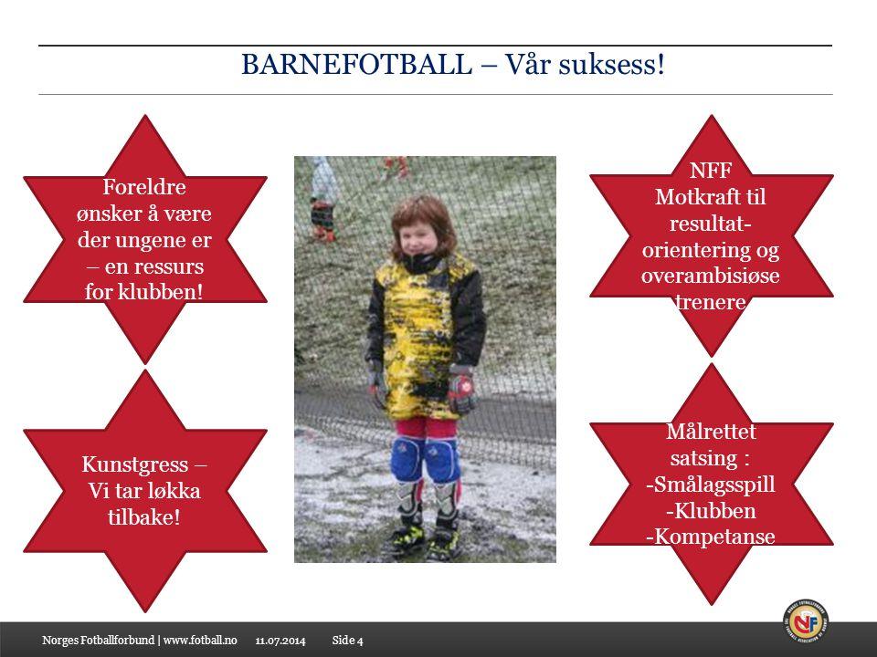 11.07.2014 BARNEFOTBALL – Vår suksess.