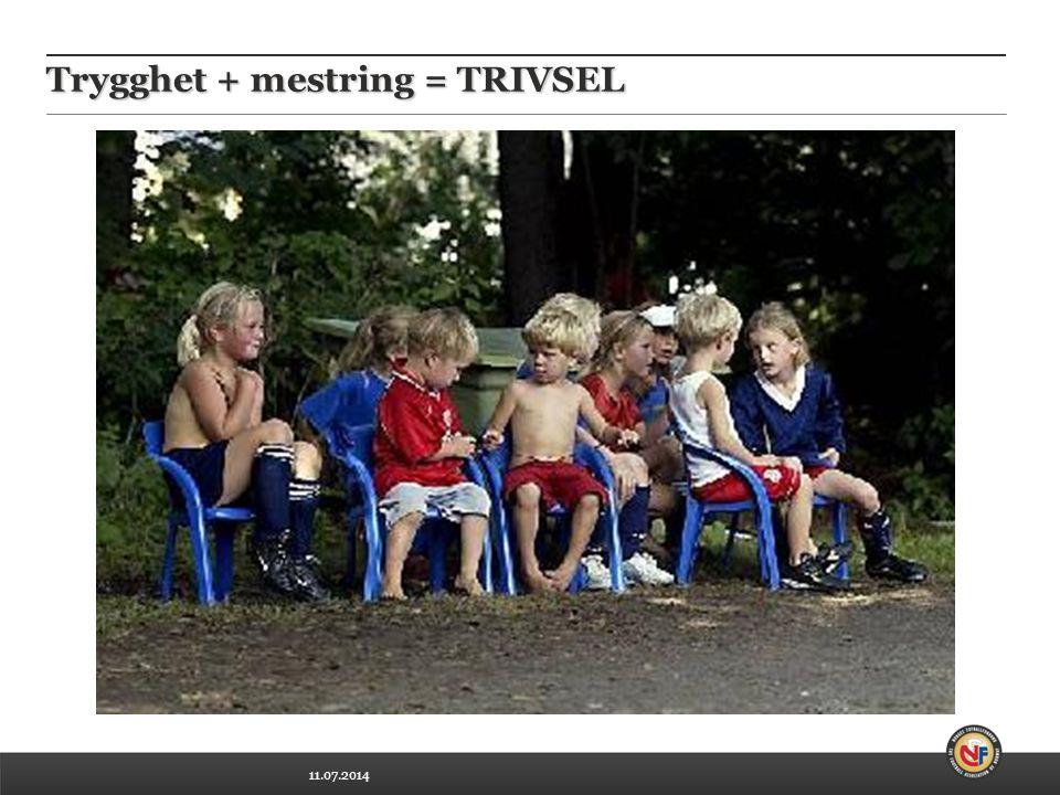 11.07.2014 Trygghet + mestring = TRIVSEL