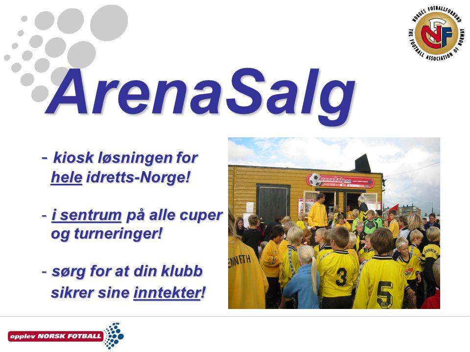 ArenaSalg - kiosk løsningen for hele idretts-Norge.