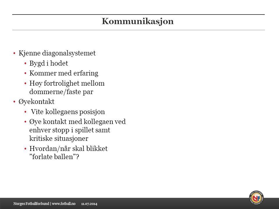 11.07.2014 Kommunikasjon Små hemmelige tegn Målkastsituasjoner f.eks.