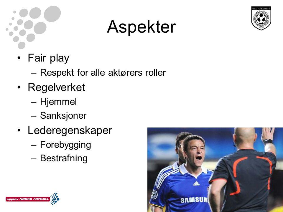 Fair play Er det respekt blant aktørene på fotballbanen.
