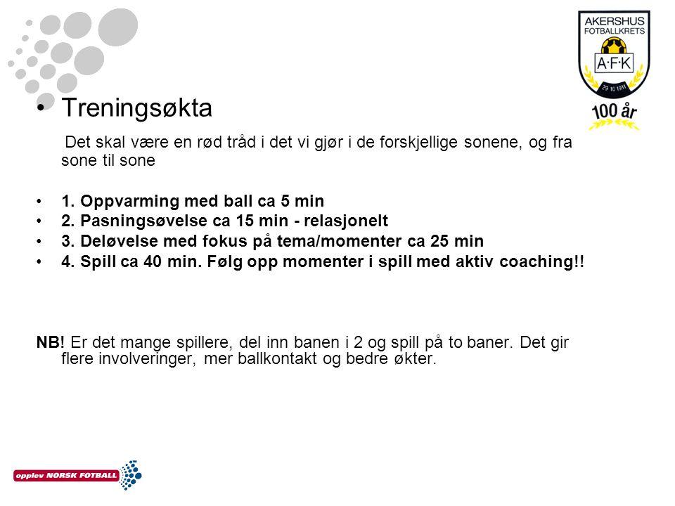 Kretslag : De beste på sone Kampforberedende trening – sette off/def struktur Kamp: Fokus på å tørre og spille fotball Hospitering.