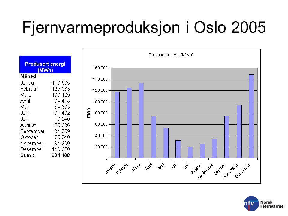 Fjernvarmeproduksjon i Oslo 2005