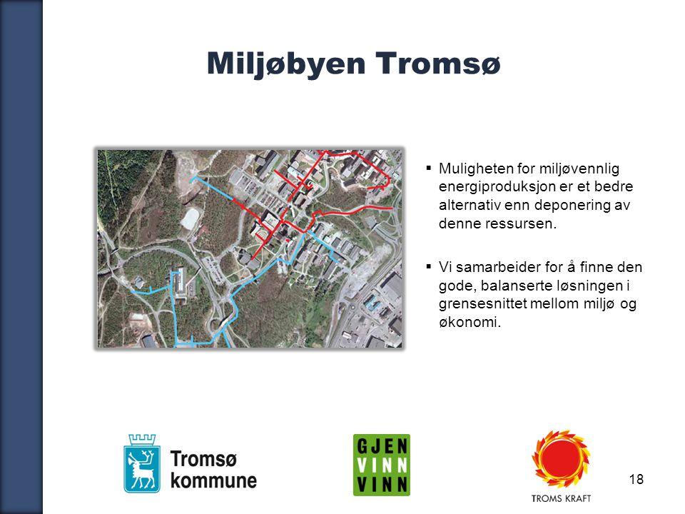 18 Miljøbyen Tromsø  Muligheten for miljøvennlig energiproduksjon er et bedre alternativ enn deponering av denne ressursen.