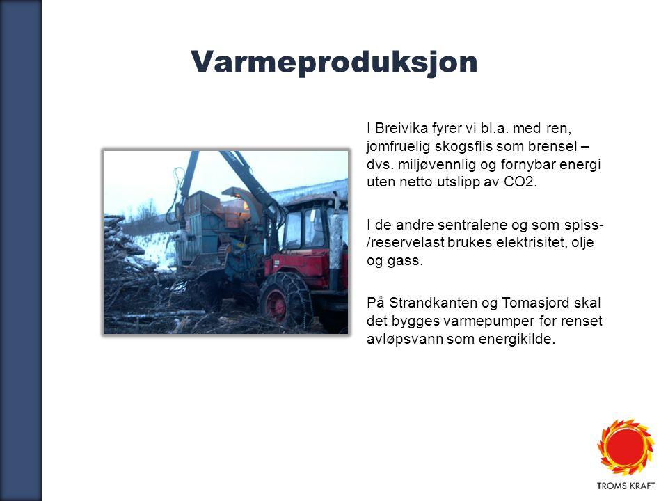 6 Varmeproduksjon I Breivika fyrer vi bl.a.med ren, jomfruelig skogsflis som brensel – dvs.