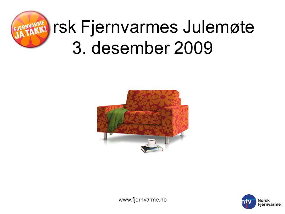 Norsk Fjernvarmes Julemøte 3. desember 2009 www.fjernvarme.no