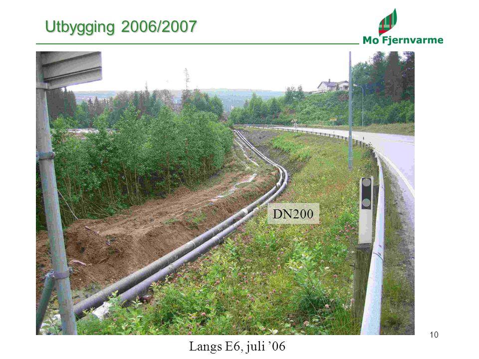 10 Utbygging 2006/2007 DN200 Langs E6, juli '06