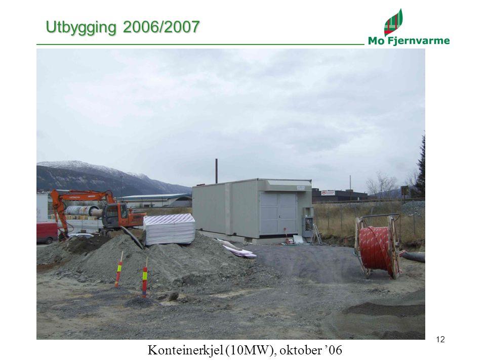 12 Utbygging 2006/2007 Konteinerkjel (10MW), oktober '06