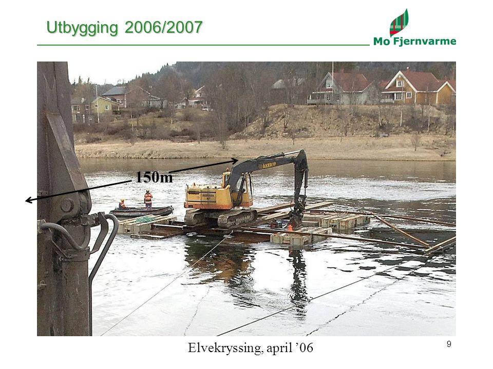 9 Utbygging 2006/2007 150m Elvekryssing, april '06