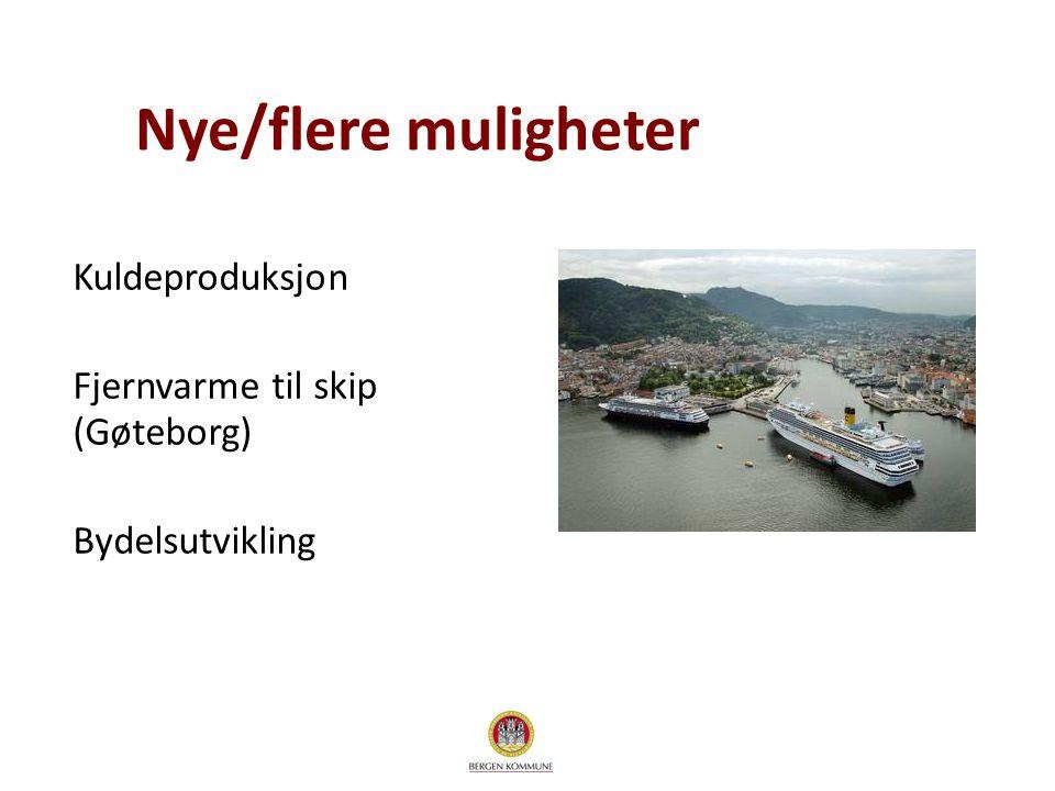 Nye/flere muligheter Kuldeproduksjon Fjernvarme til skip (Gøteborg) Bydelsutvikling