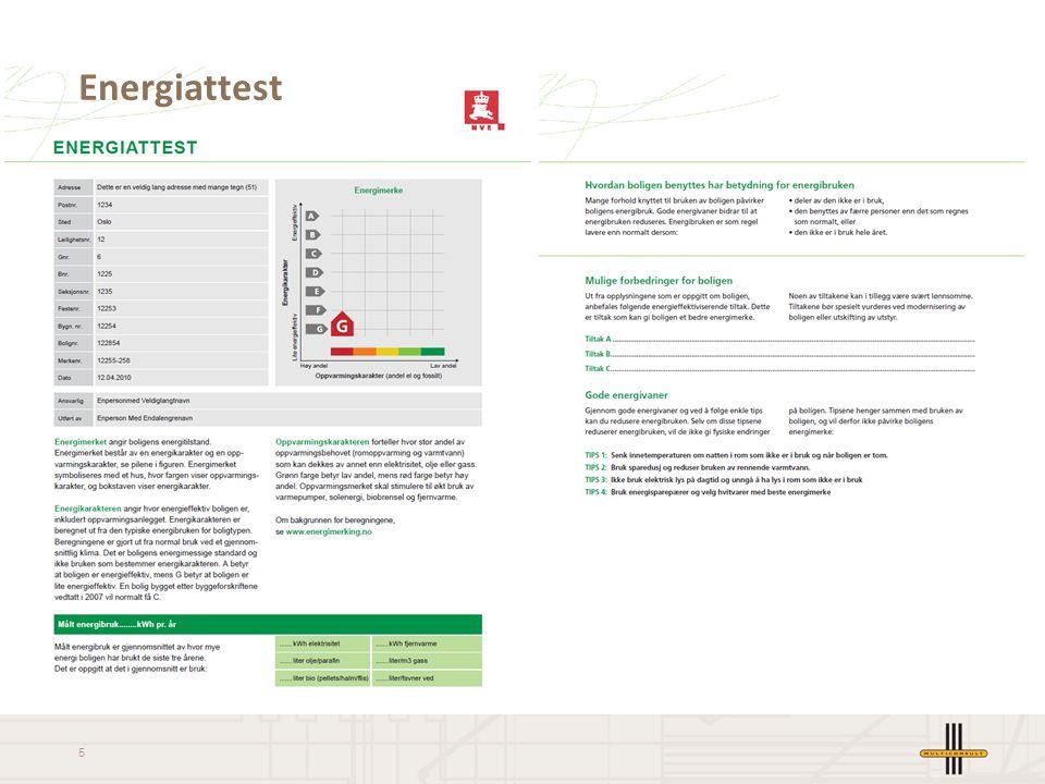 6 Energikarakter Energikarakterens skala går fra A til G hvor A er best.