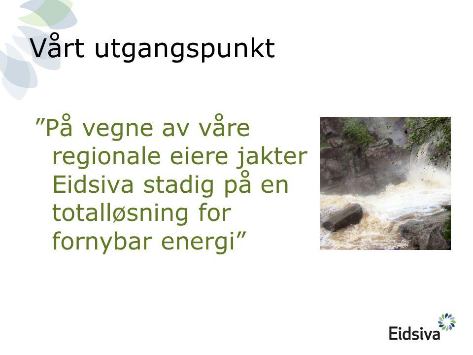 På vegne av våre regionale eiere jakter Eidsiva stadig på en totalløsning for fornybar energi Vårt utgangspunkt