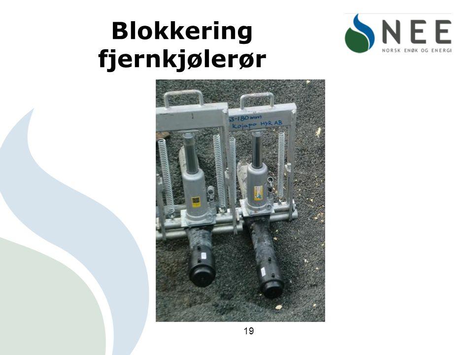 Blokkering fjernkjølerør 19