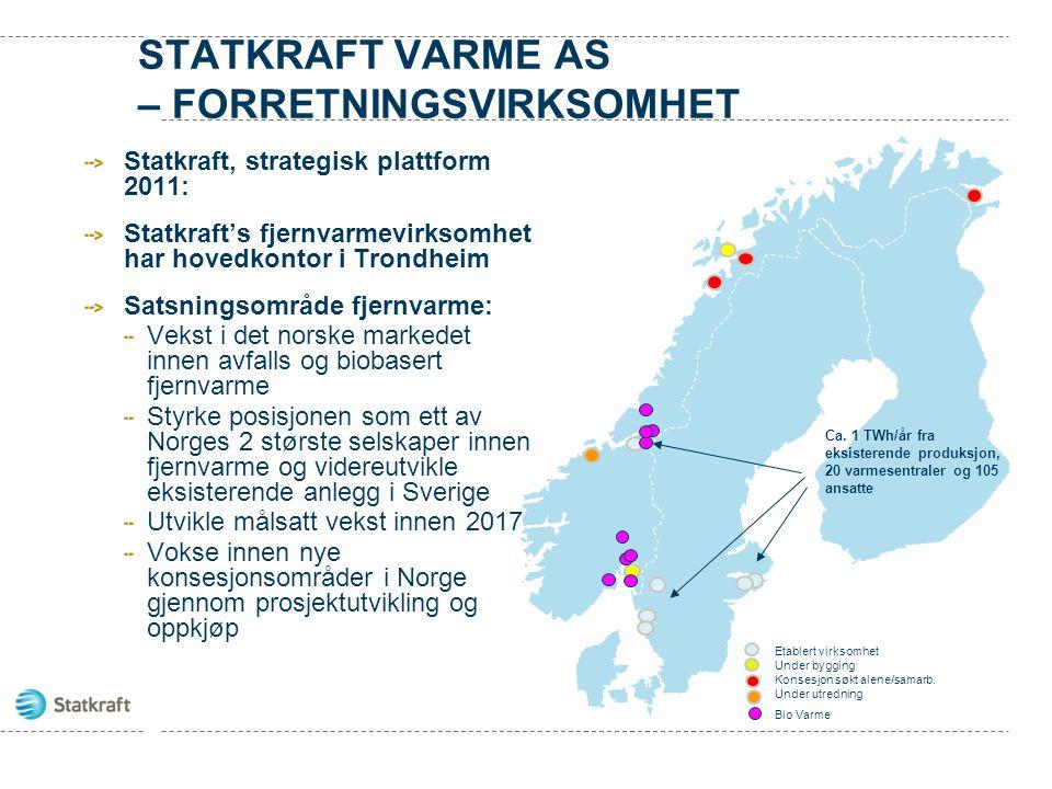 FJERNVARMEANLEGG I BODØ Forretningssamarbeid Bodø Energi og Statkraft Varme har et forretningssamarbeid for utbygging av fjernvarme i Bodø.