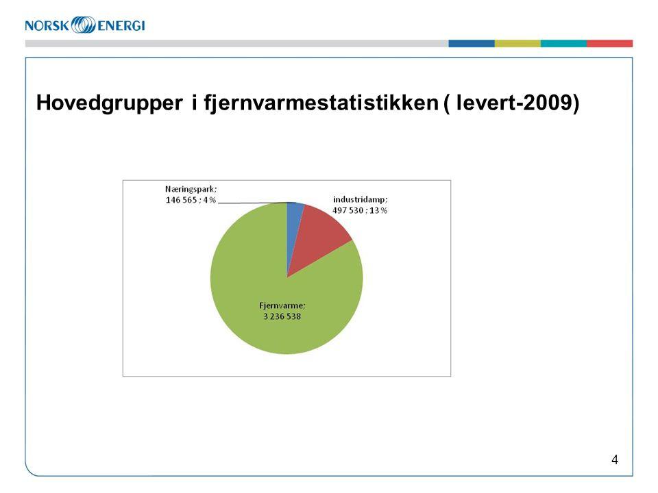 Hovedgrupper i fjernvarmestatistikken ( levert-2009) 4