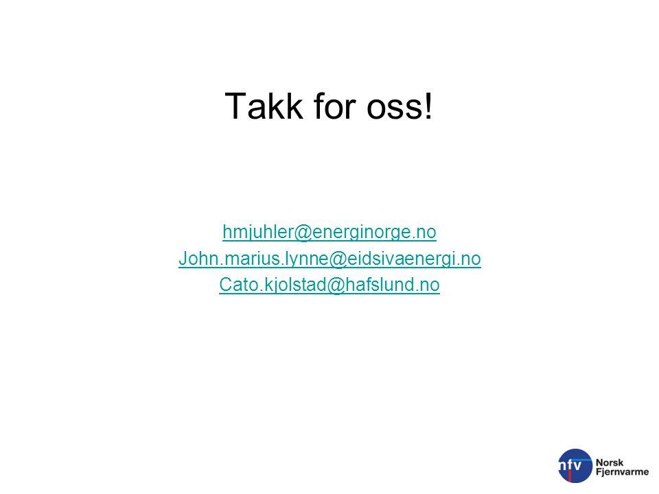 Takk for oss! hmjuhler@energinorge.no John.marius.lynne@eidsivaenergi.no Cato.kjolstad@hafslund.no