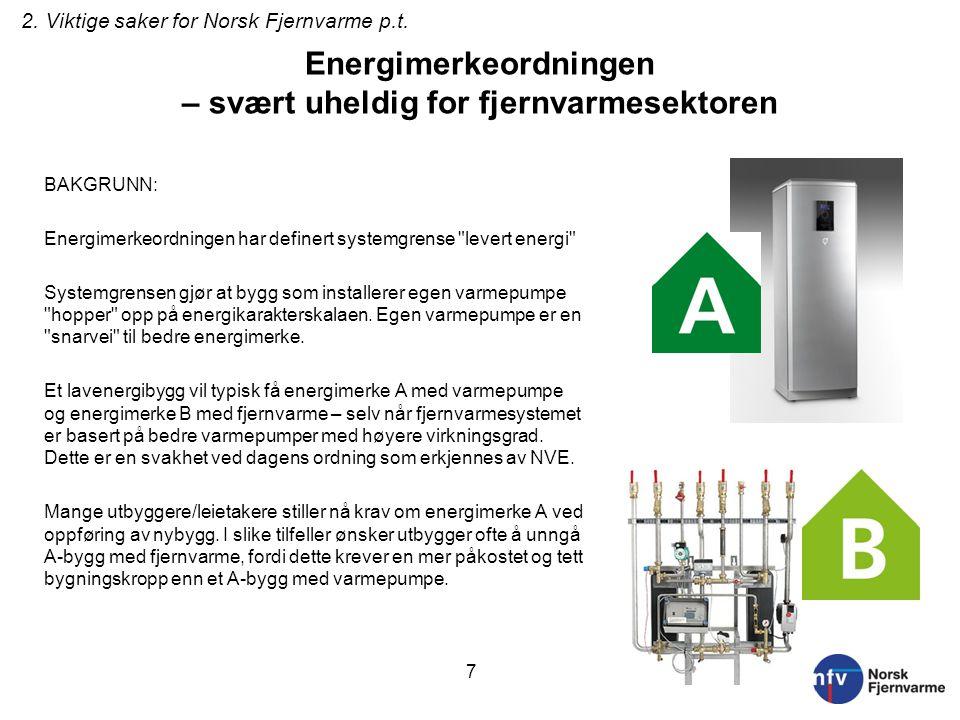 Energimerkeordningen – svært uheldig for fjernvarmesektoren BAKGRUNN: Energimerkeordningen har definert systemgrense