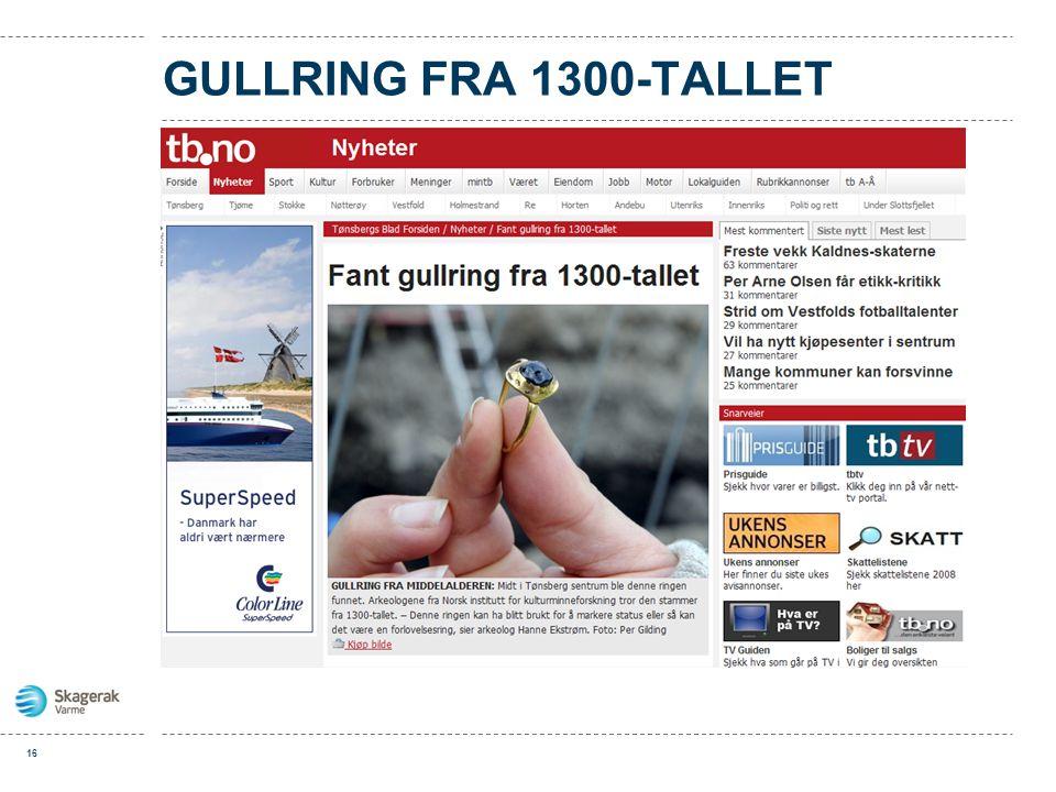 GULLRING FRA 1300-TALLET 16