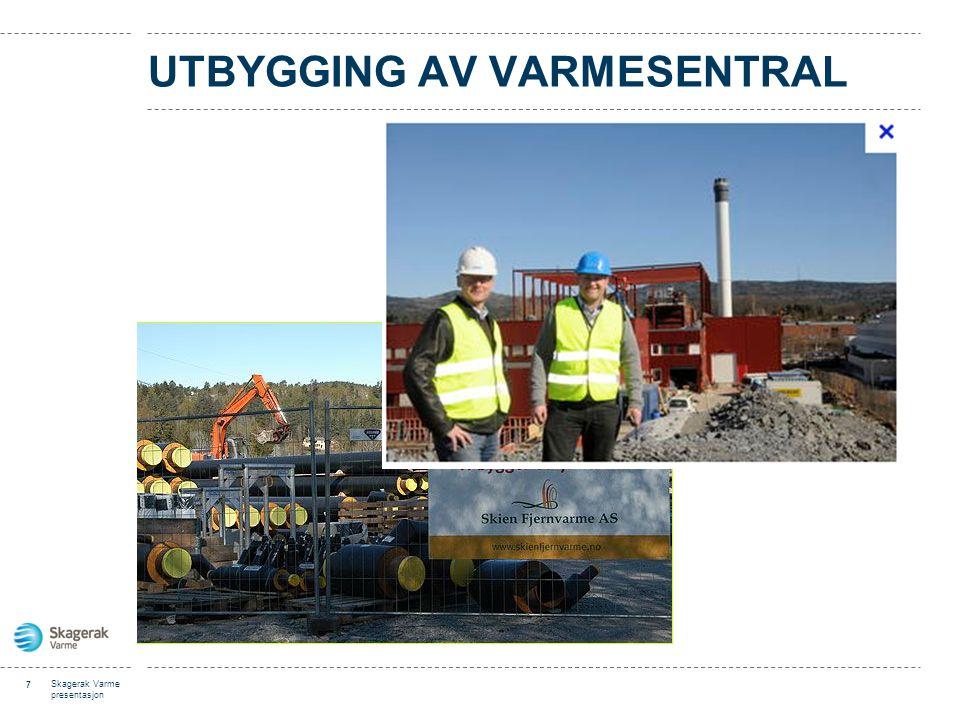 UTBYGGING AV VARMESENTRAL 7 Skagerak Varme presentasjon