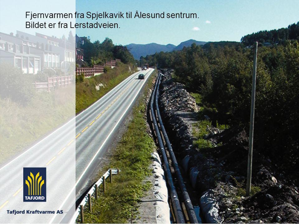 Fjernvarmen fra Spjelkavik til Ålesund sentrum. Bildet er fra Lerstadveien.