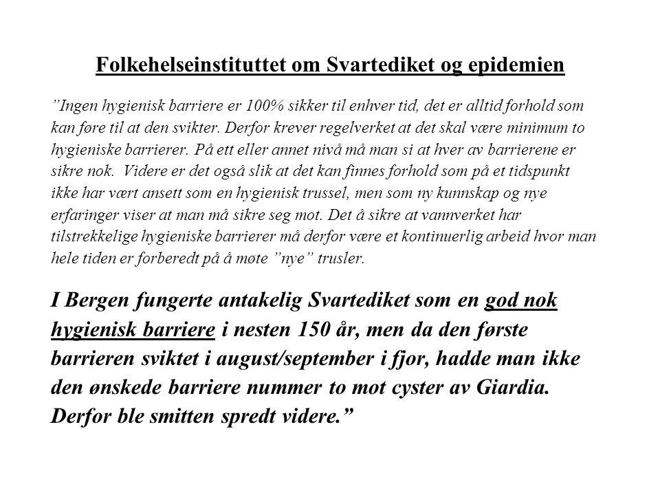 Sammenlikning Gullfjellet (Bergen) og Glitre (Drammensreg.) Glitre 1995 - 2004