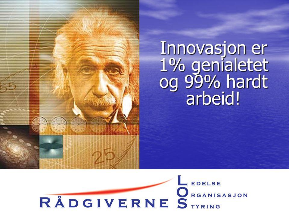 Innovasjon er 1% genialetet og 99% hardt arbeid!