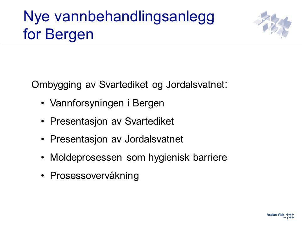 Nye vannbehandlingsanlegg for Bergen Ombygging av Svartediket og Jordalsvatnet : Vannforsyningen i Bergen Presentasjon av Svartediket Presentasjon av