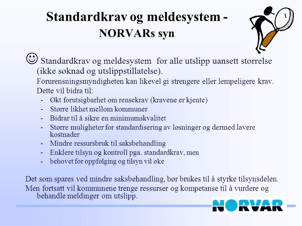 Forslag til standard rensekrav – mindre følsomt område * Årlig middelverdi ** BOF 5 : 70 % eller < 25 mg/l og KOF: 75 % eller < 125 mg/l *** Kun for eksist.