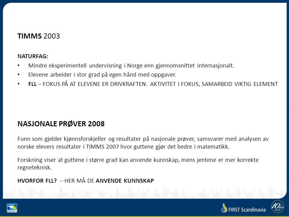 TIMMS 2003 NATURFAG: Mindre eksperimentell undervisning i Norge enn gjennomsnittet internasjonalt.