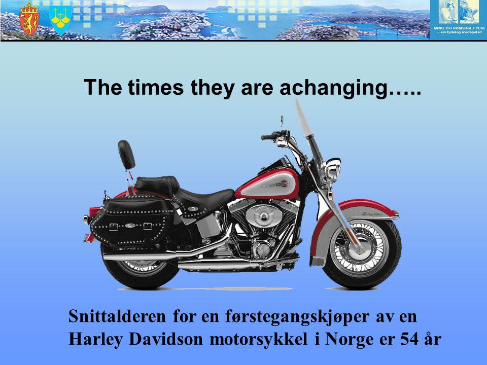 Snittalderen for en førstegangskjøper av en Harley Davidson motorsykkel i Norge er 54 år The times they are achanging…..