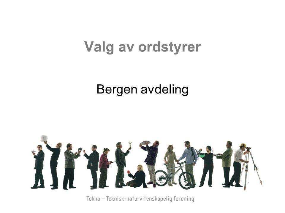 Valg av ordstyrer Bergen avdeling