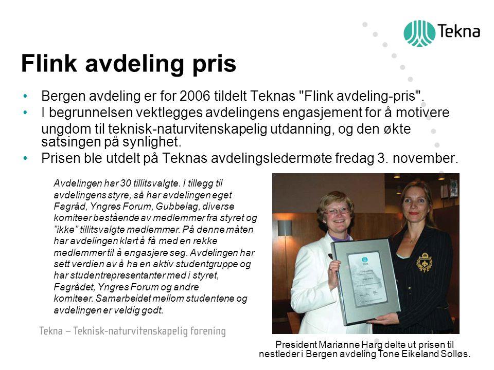 Flink avdeling pris Bergen avdeling er for 2006 tildelt Teknas