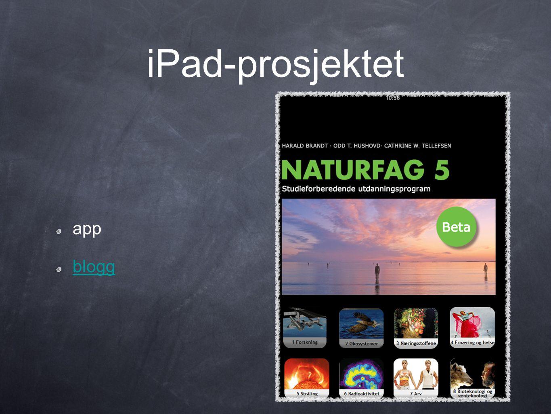 iPad-prosjektet app blogg