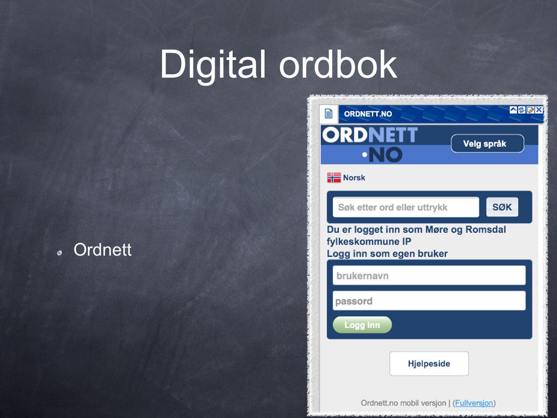Digital ordbok Ordnett