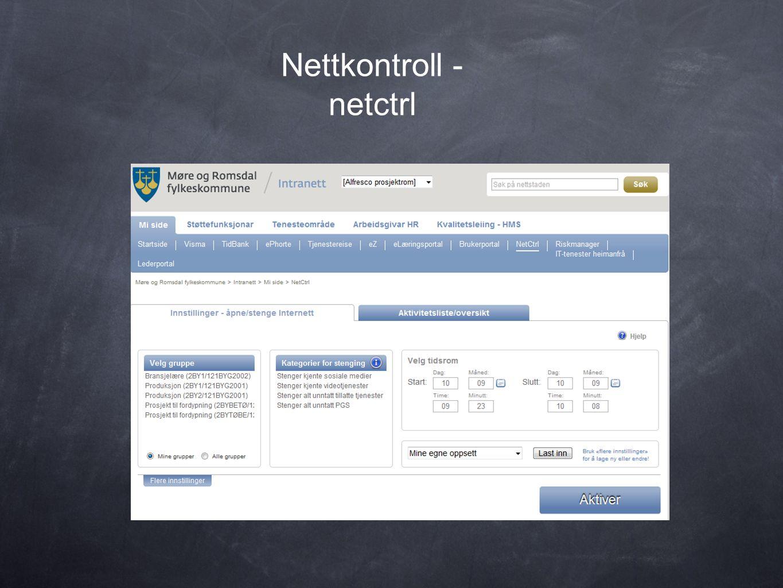 Nettkontroll - netctrl