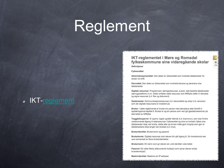 Reglement IKT-reglement