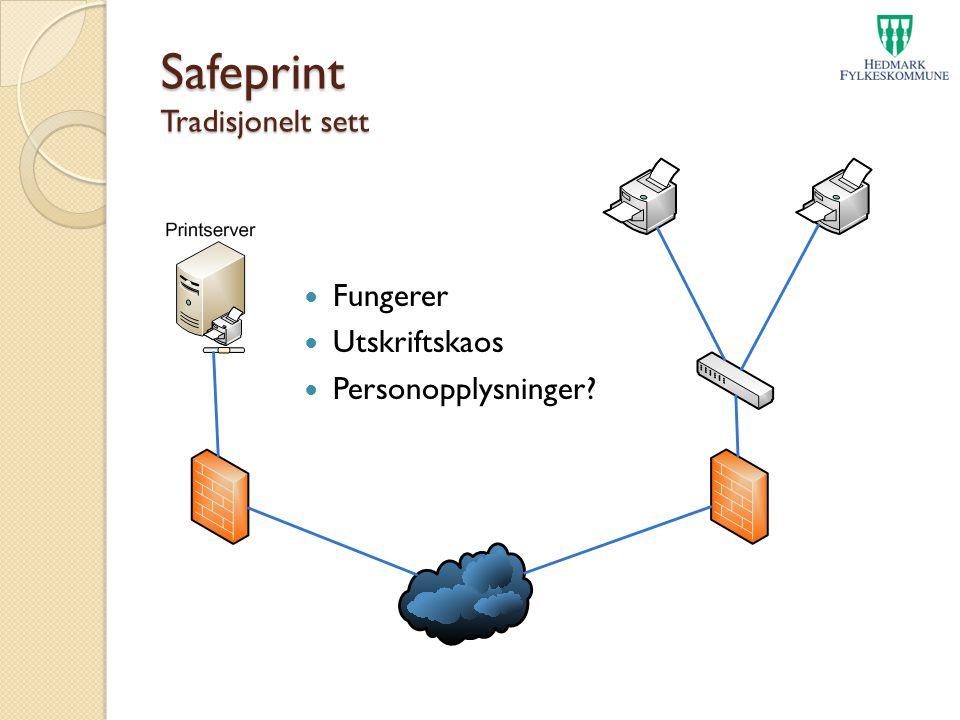 Safeprint Tradisjonelt sett Fungerer Utskriftskaos Personopplysninger?