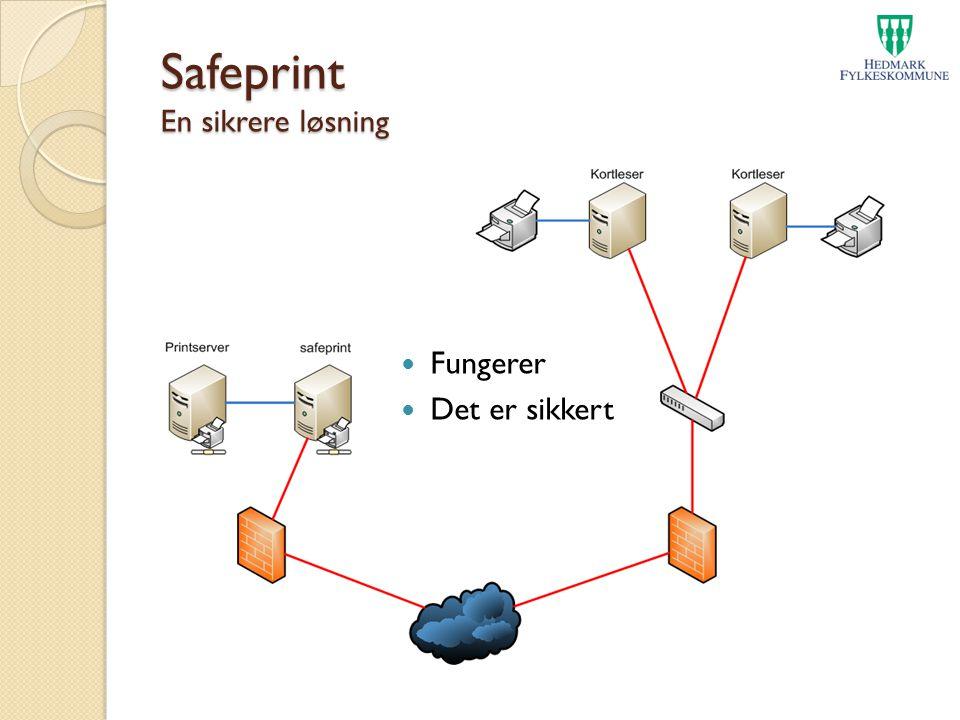Safeprint En sikrere løsning Fungerer Det er sikkert