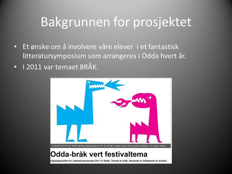 Bakgrunnen for prosjektet Et ønske om å involvere våre elever i et fantastisk litteratursymposium som arrangeres i Odda hvert år.