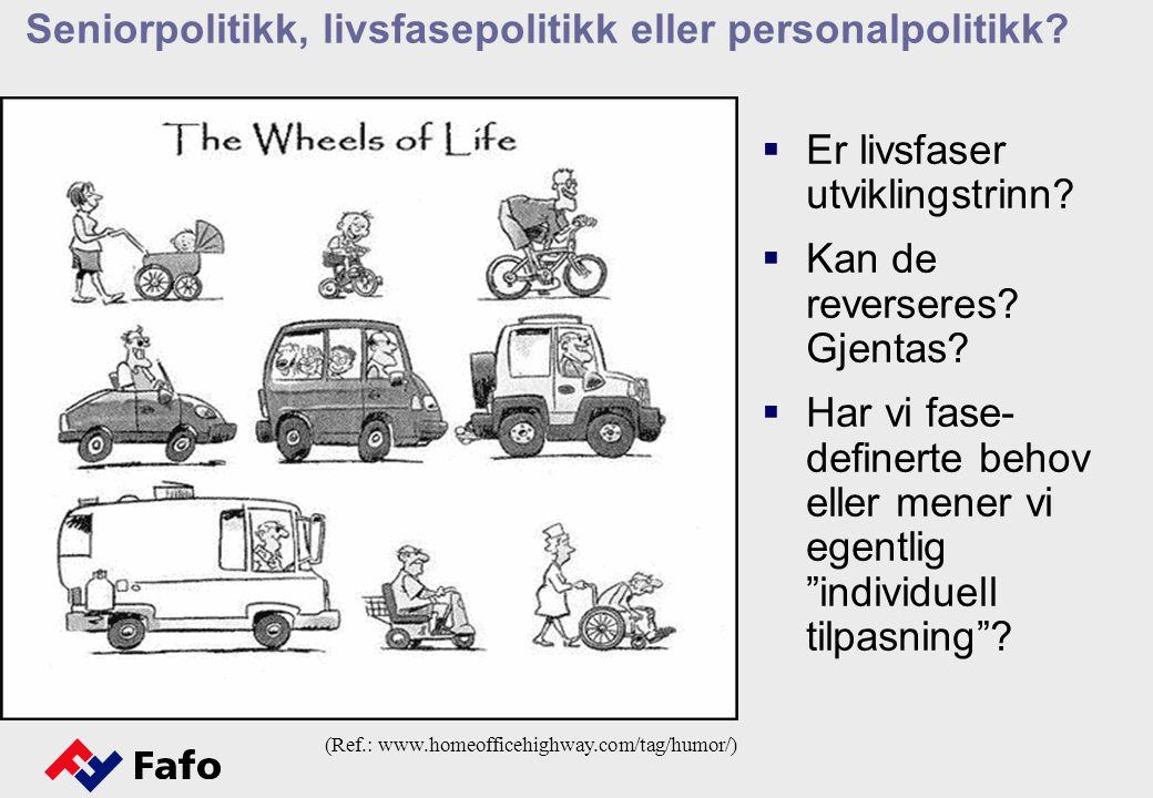 Seniorpolitikk, livsfasepolitikk eller personalpolitikk.