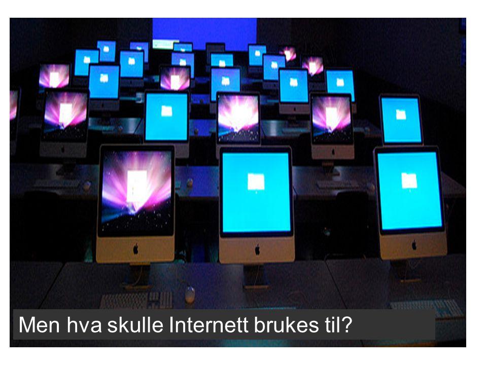 Men hva skulle Internett brukes til