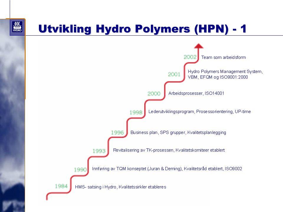 Utvikling Hydro Polymers (HPN) - 1