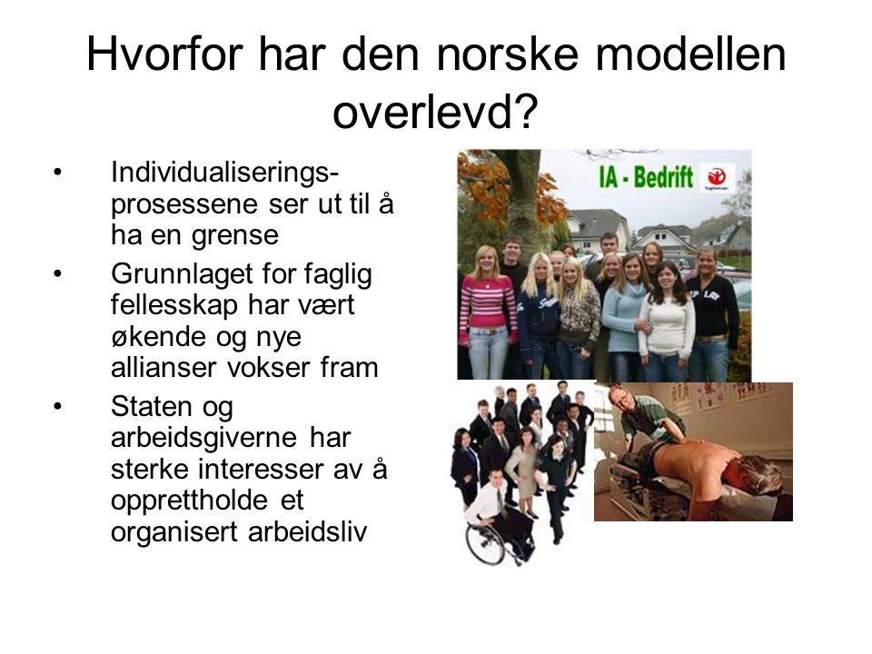 Hvorfor har den norske modellen overlevd.