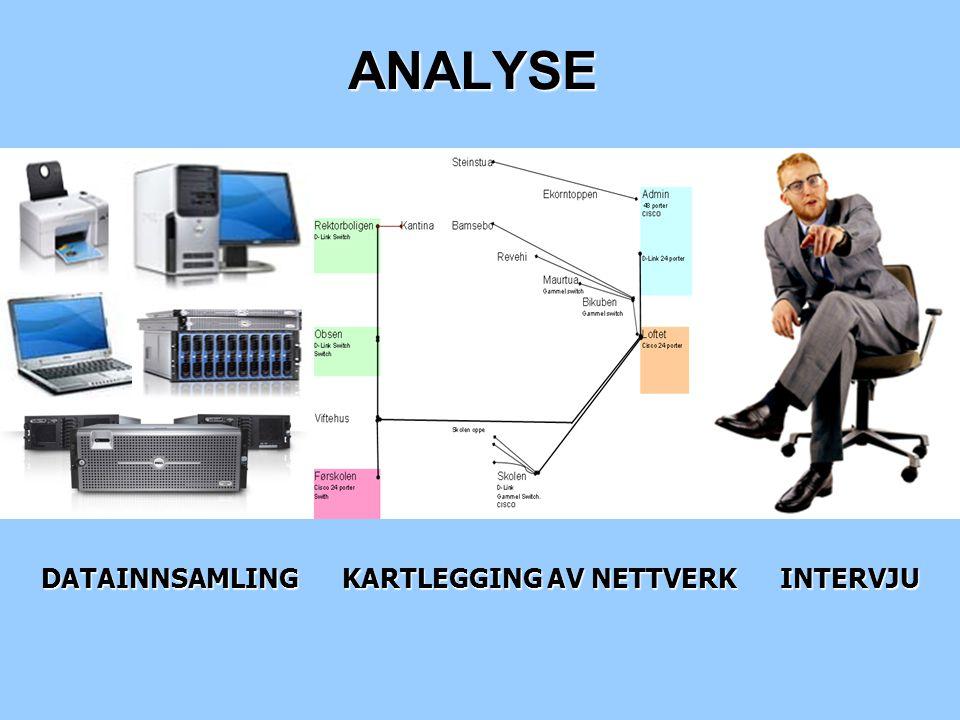 ANALYSE DATAINNSAMLING KARTLEGGING AV NETTVERK INTERVJU