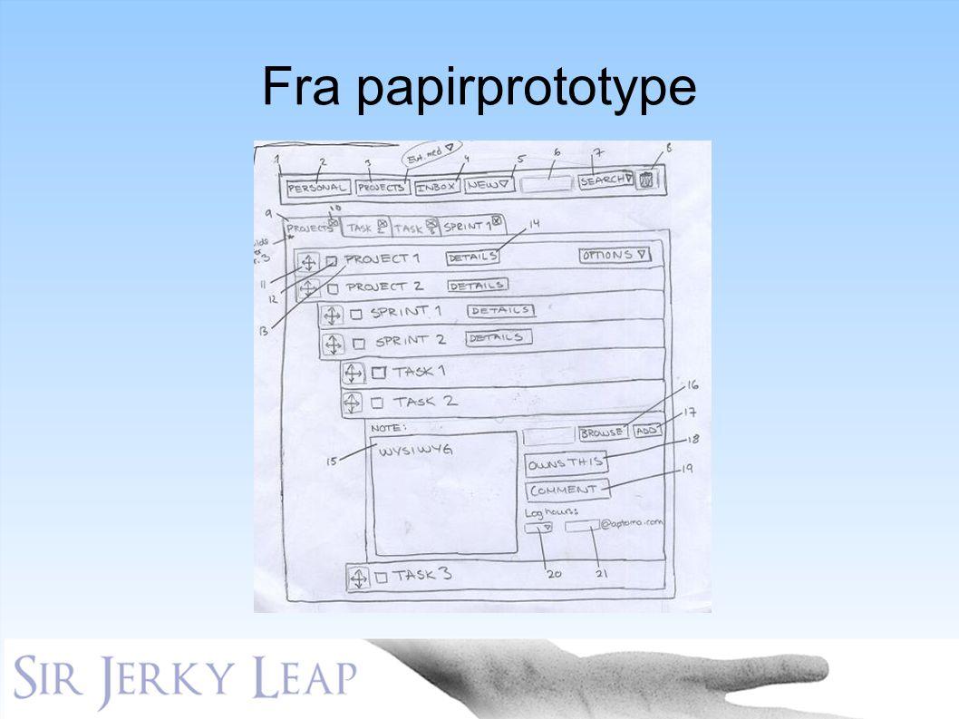 Fra papirprototype