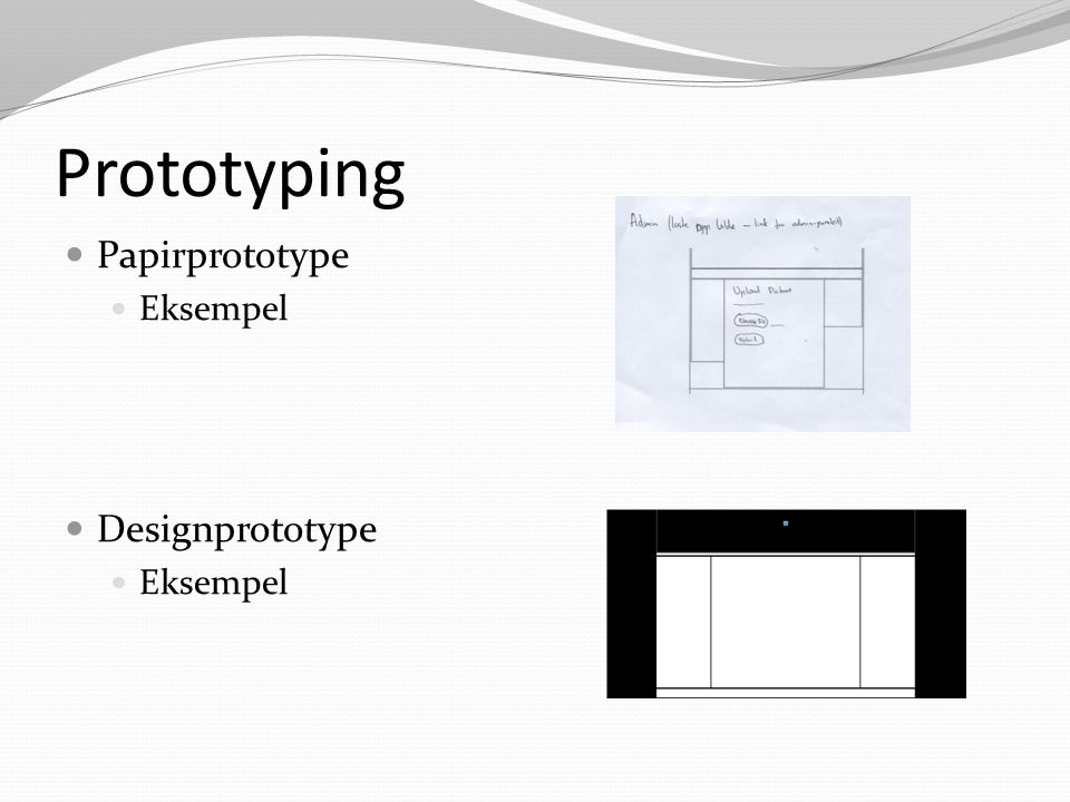 Prototyping Papirprototype Eksempel Designprototype Eksempel